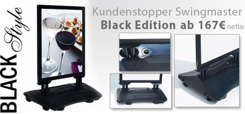 Aufsteller-Swingmaster-black
