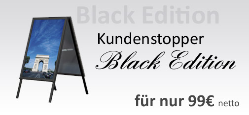 Aufsteller A1 Black Edition