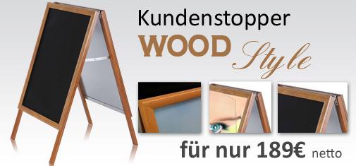 Aufsteller Holzoptik
